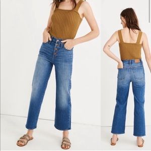 Madewell Slim Wide Leg Button Front Jeans